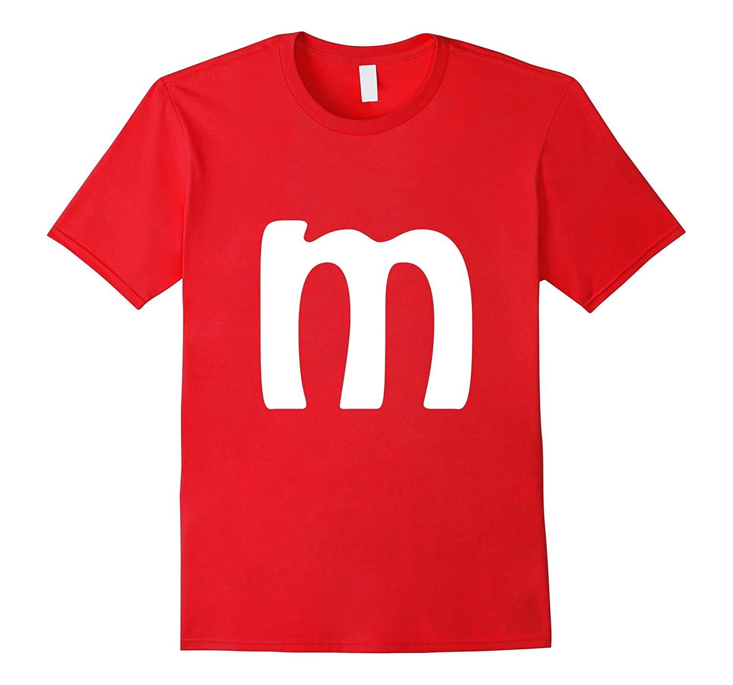 M Letter Brilliant Last Minute Halloween Costume T-shirt-T-Shirt