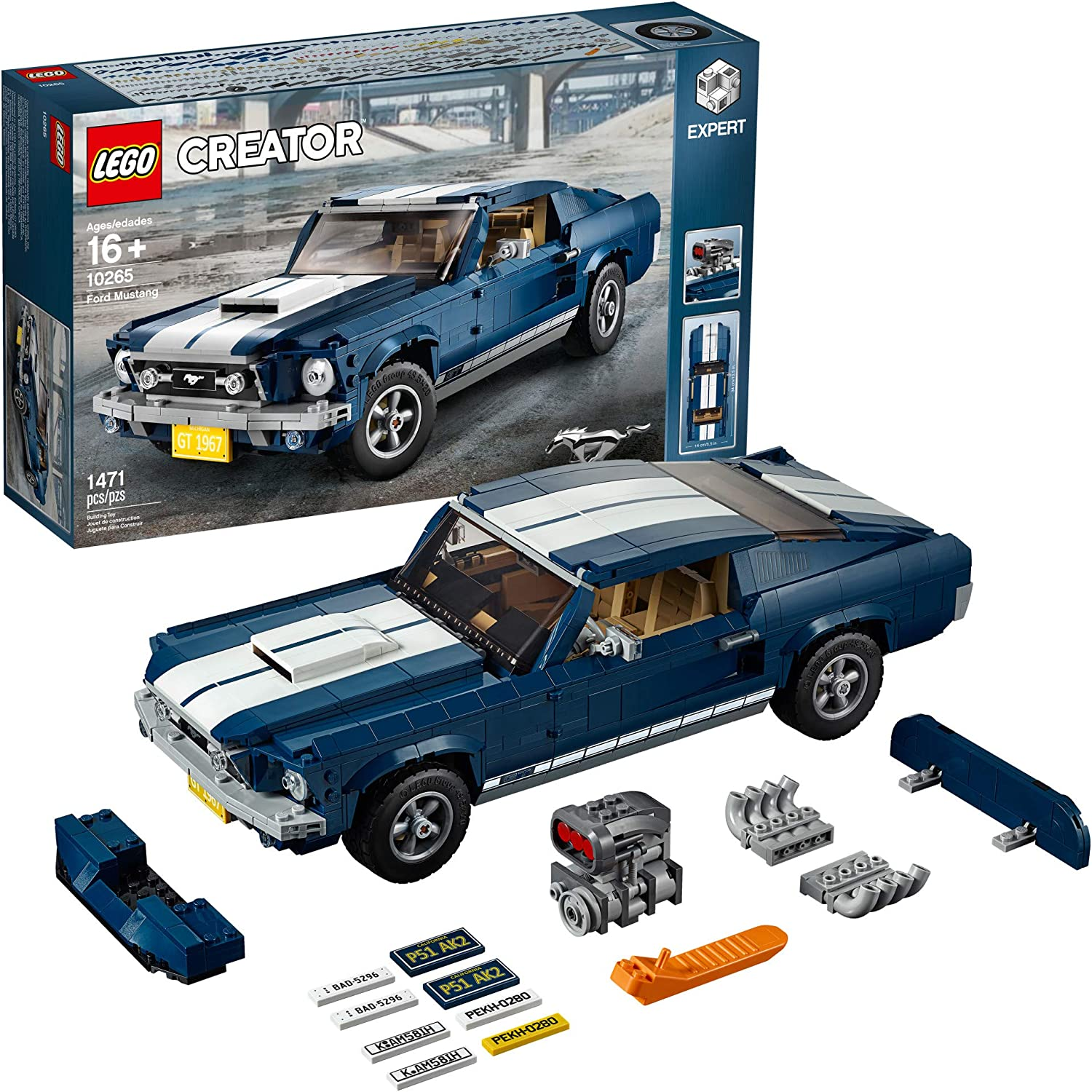 Amazon Com Lego Creator Expert Ford Mustang 10265 Building Kit 1471 Pieces Toys Games