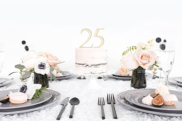Amazon 25th Birthday Cake Topper 25th Birthday Cake Topper
