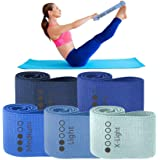 Amazon Com Limm Booty Resistance Hip Bands Fitness Loops To Activate Legs Thighs Bootie Glutes And Core Premium Elastic Non Slip Cotton Fabric With Workout Book Carry Bag Large