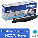 Brother Genuine TN227C, High Yield Toner Cartridge, Replacement Cyan Toner, Page Yield Up to 2,300 Pages, TN227, Amazon…