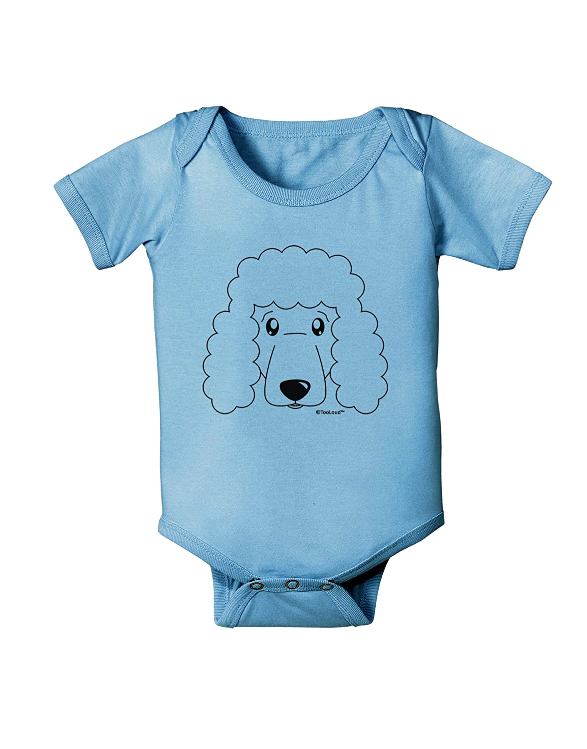 TooLoud Cute Poodle Dog White Baby Romper Bodysuit
