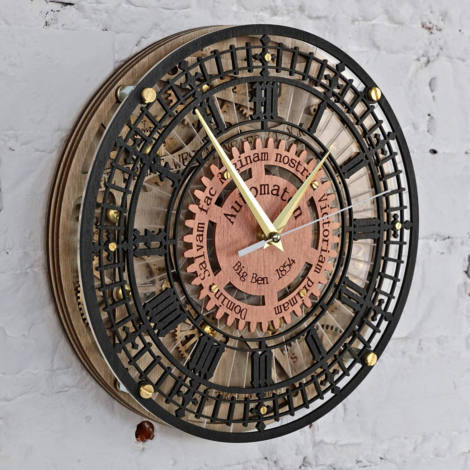 housewarming victorian home decor gift one-of-a-kind Big Ben Automaton 1854 Unique Vintage large wooden wall Clock