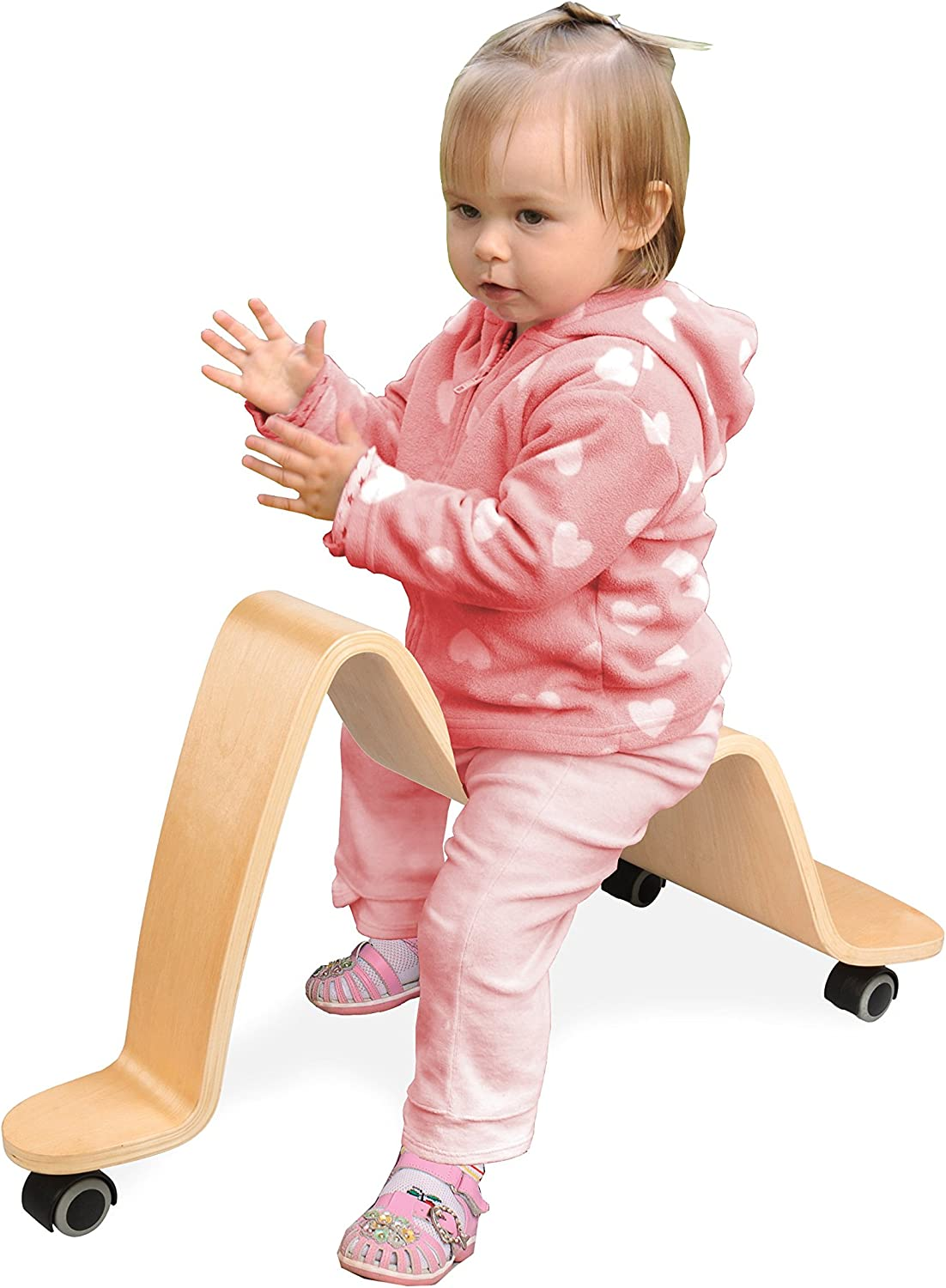 Wave Wooden Scooter - Solid Wood - Ride On Bike Wheels Move in All Directions!