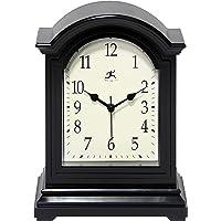 "Infinity Instruments Black Antique 9"""" x 6"""" Grandfather Mantle Tabletop Clock Mini Tesktop Table Mantel Decor Vintage…"