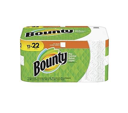 Bounty toallas de papel de, Super rollos, 74 hojas, 12 rollos