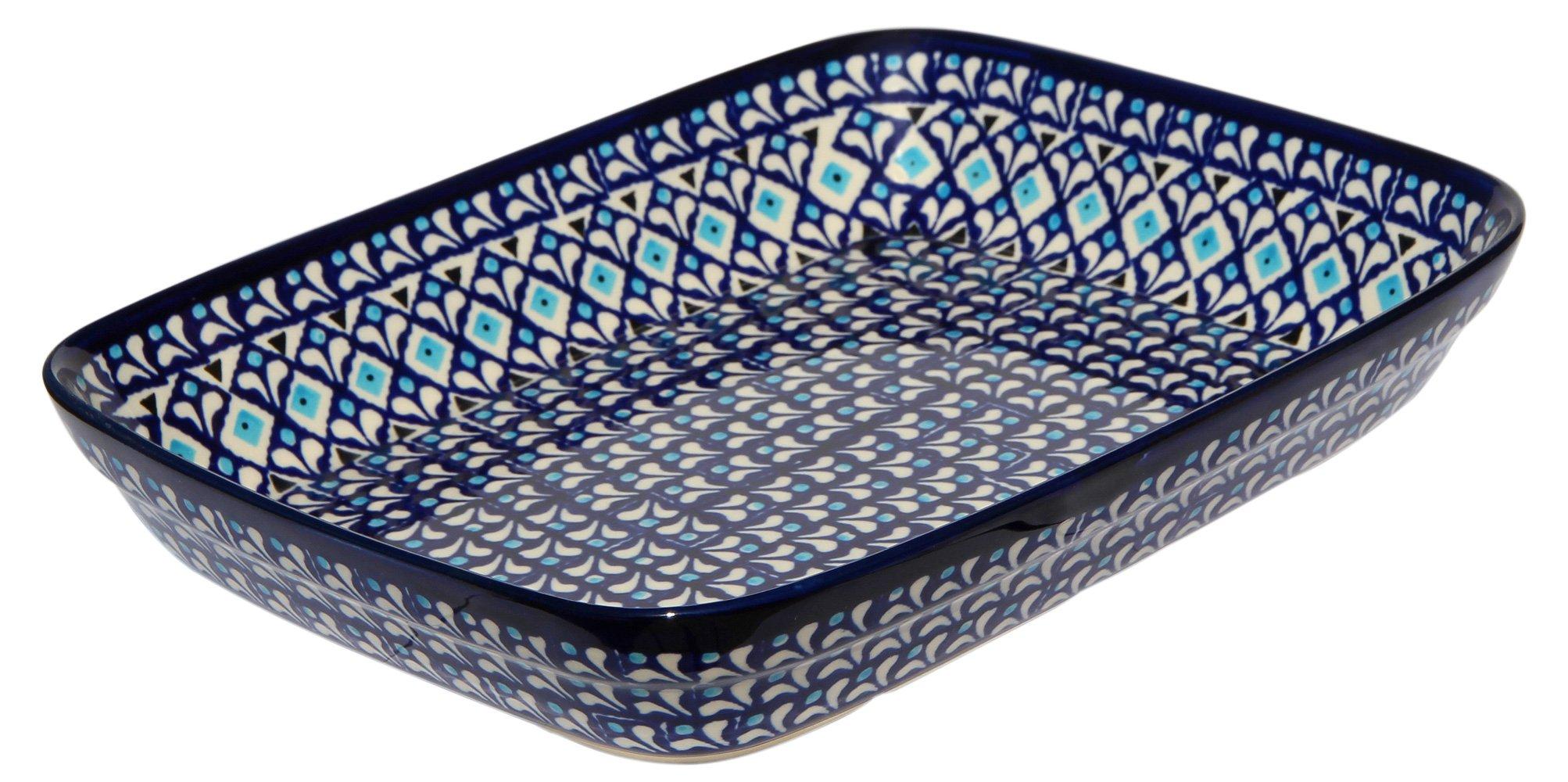 Polish Pottery Baking Dish 8 Inch X 10 Inch from Zaklady Ceramiczne Boleslawiec 370-217a Classic Pattern