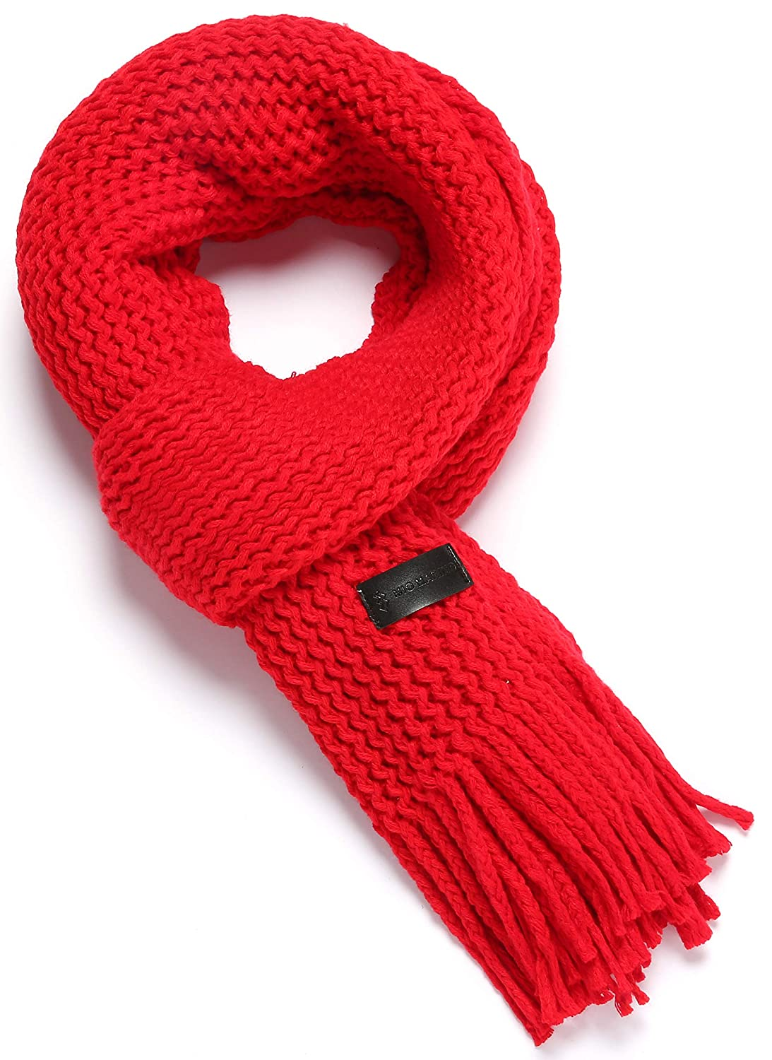 Mio Marino Mens Knitted Scarf - Winter Scarfs for Men US037-08-BK