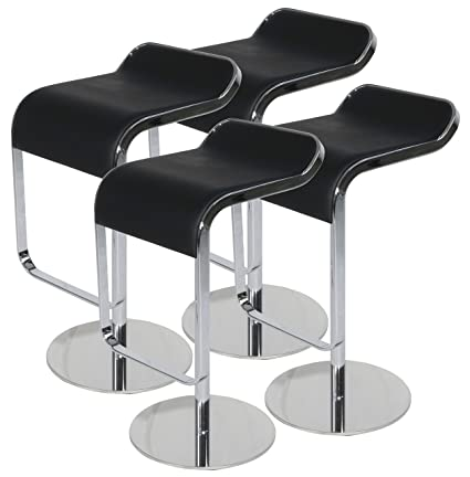 Awe Inspiring Lem Piston Bar Stool In Top Italian Leather Black Set Of 4 Camellatalisay Diy Chair Ideas Camellatalisaycom