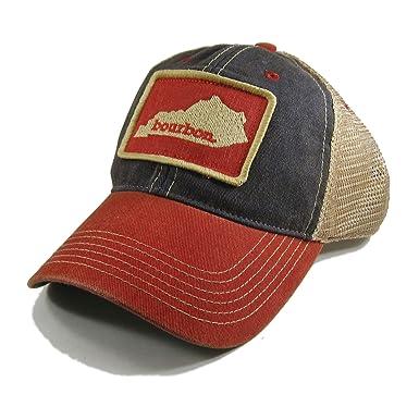 aa133299e870e Homeland Tees Vintage Kentucky Bourbon Trucker Hat - Blue Red Two-Tone