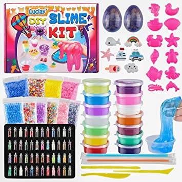 Luclay DIY Fluffy Slime Kit - Crystal Slime para Manualidades ...