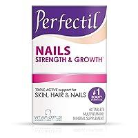 Vitabiotics Perfectil Nail Multivitamin | Nail Growth and Strengthening | Formula for Healthy Nails | Vitamin D, Vitamin E, Collagen, Biotin, and More