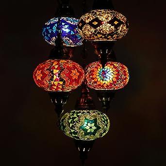 Superbe Turque Mosaique Lustre Turque Marocain Style Mosaique