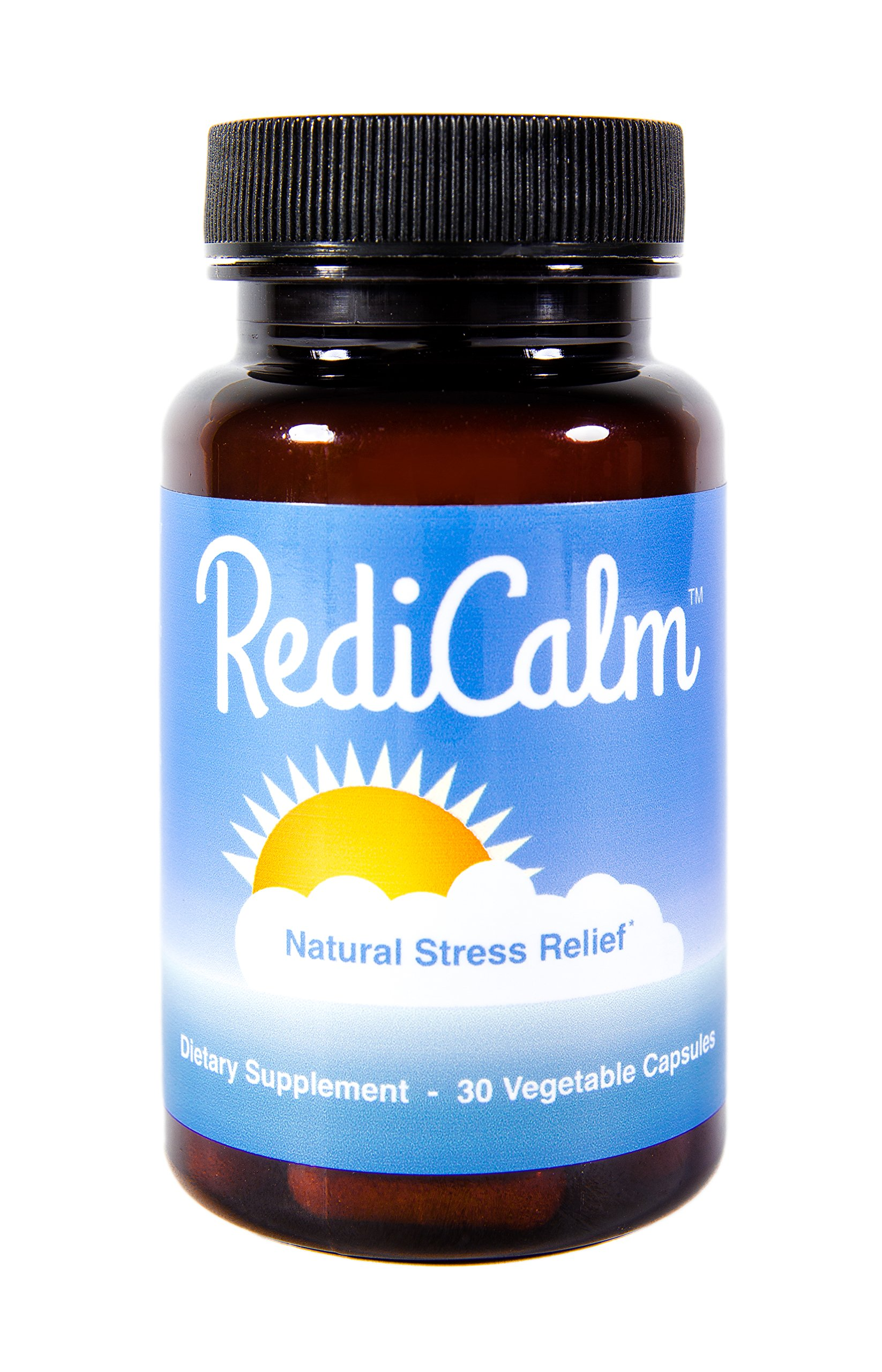RediCalm - Clinically-Proven Natural Anxiety Relief Supplement - Non-GMO, Vegan, Gluten-Free by RediCalm