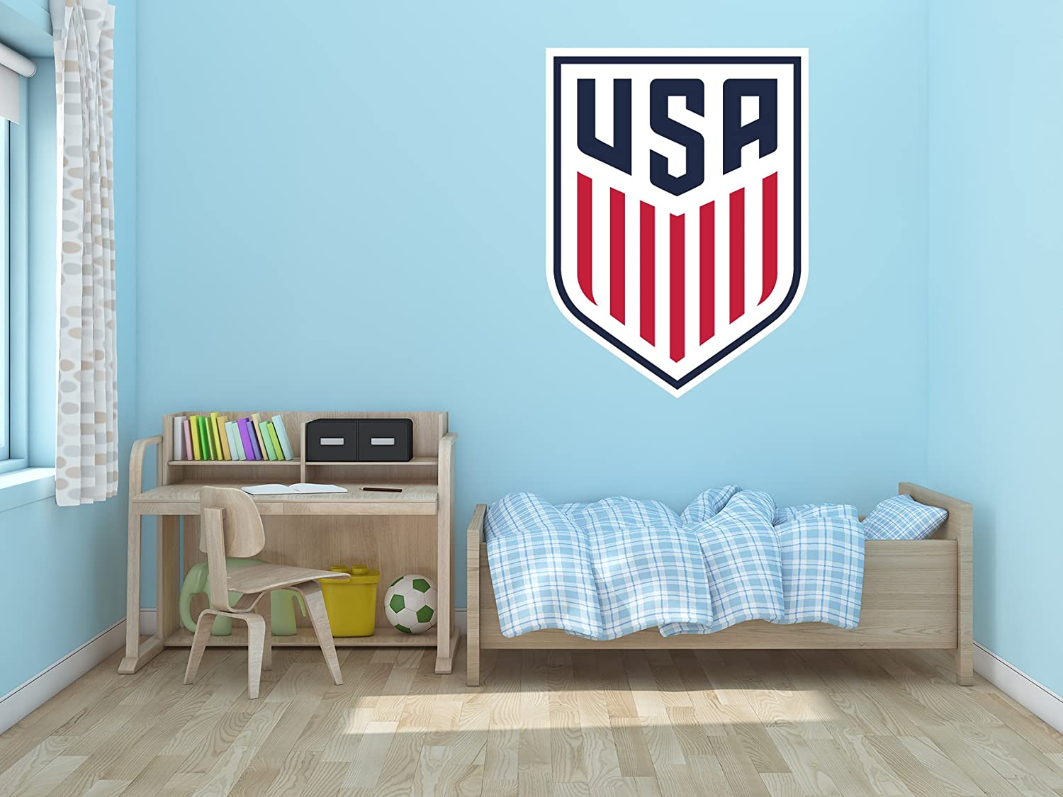 """Ottosdecal National Soccer Team - Wall Decal Vinyl Sticker for Home Interior Decoration Bedroom, Laptop, Window, Mirror, Car (20"""" x 27"""")"""