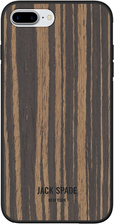JACK SPADE Protective Wood Case for Apple iPhone 7 Plus - Wood Veneer Macassar Ebony