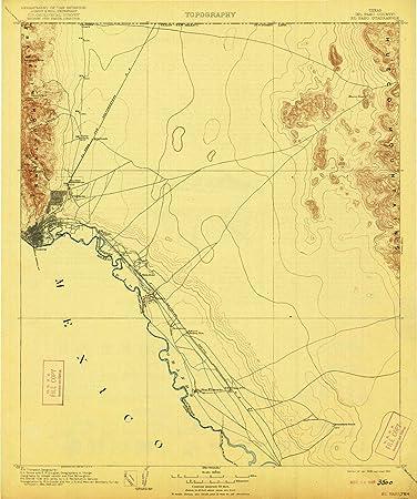 Amazon.com: YellowMaps El Paso TX topo map, 1:125000 Scale ...