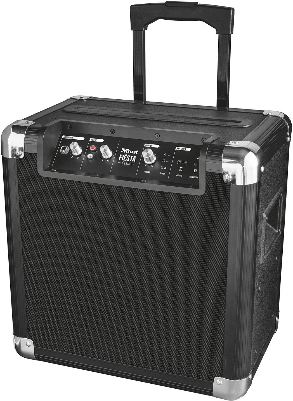 Trust Urban Fiesta Plus - Altavoz/amplificador inalámbrico con Bluetooth y micrófono, 50 W RMS, negro