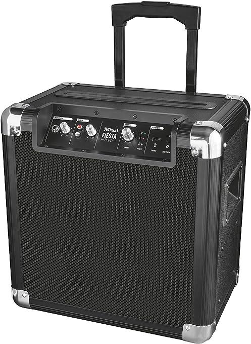 Trust Urban Fiesta Plus - Altavoz/amplificador inalámbrico con Bluetooth y micrófono, 50 W