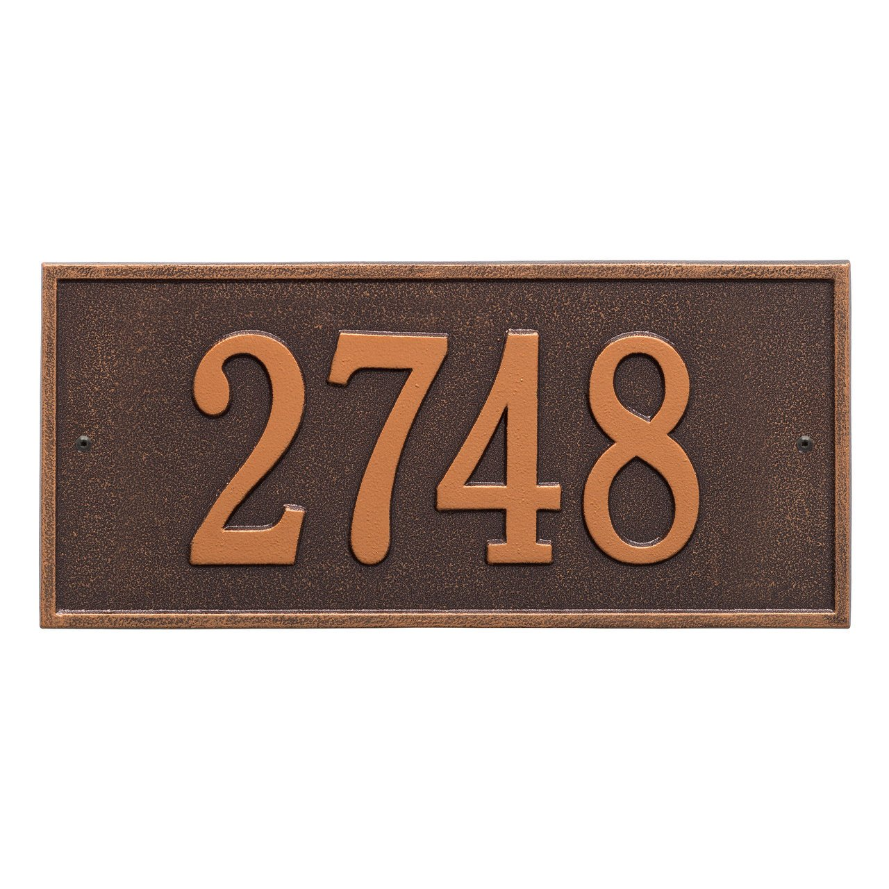Custom Hartford 1 Line Address Plaque 16 W x 7.25H