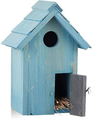 Relaxdays Caja Nido, Azul 12x17x24.3 cm 10020734_45