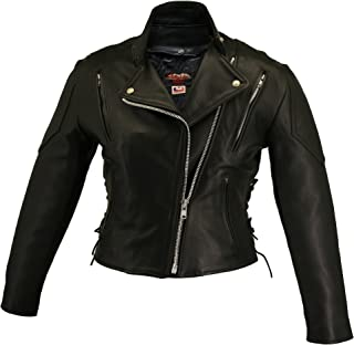 product image for HILLSIDE USA LEATHER INC. Women's Vented Biker Jacket