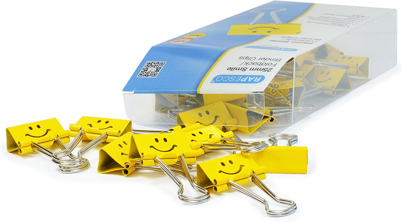 Rapesco molle fermacarte double clip Emoji sorriso 25mm Giallo