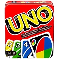 Mattel Games UNO: Family Card Game, with 112 Cards in a Sturdy Storage Tin, Travel-Friendly...