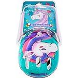 Kit de Proteção Atrio Infantil Unicorn com Capacete Cotoveleiras Joelheiras e Luva Tam. Único Indicado para +3 Anos Rosa/Azul