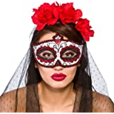 Adults Day of the Dead Mexican Eye Mask Fancy Dress Costume Accessory