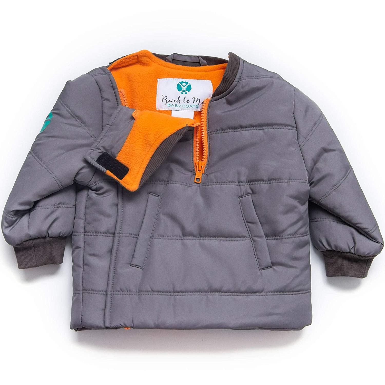 Deepest of Oceans Blue Infant Size 2 Toddler Safer Car Seat Unisex Winter Jacket Buckle Me Baby Coat