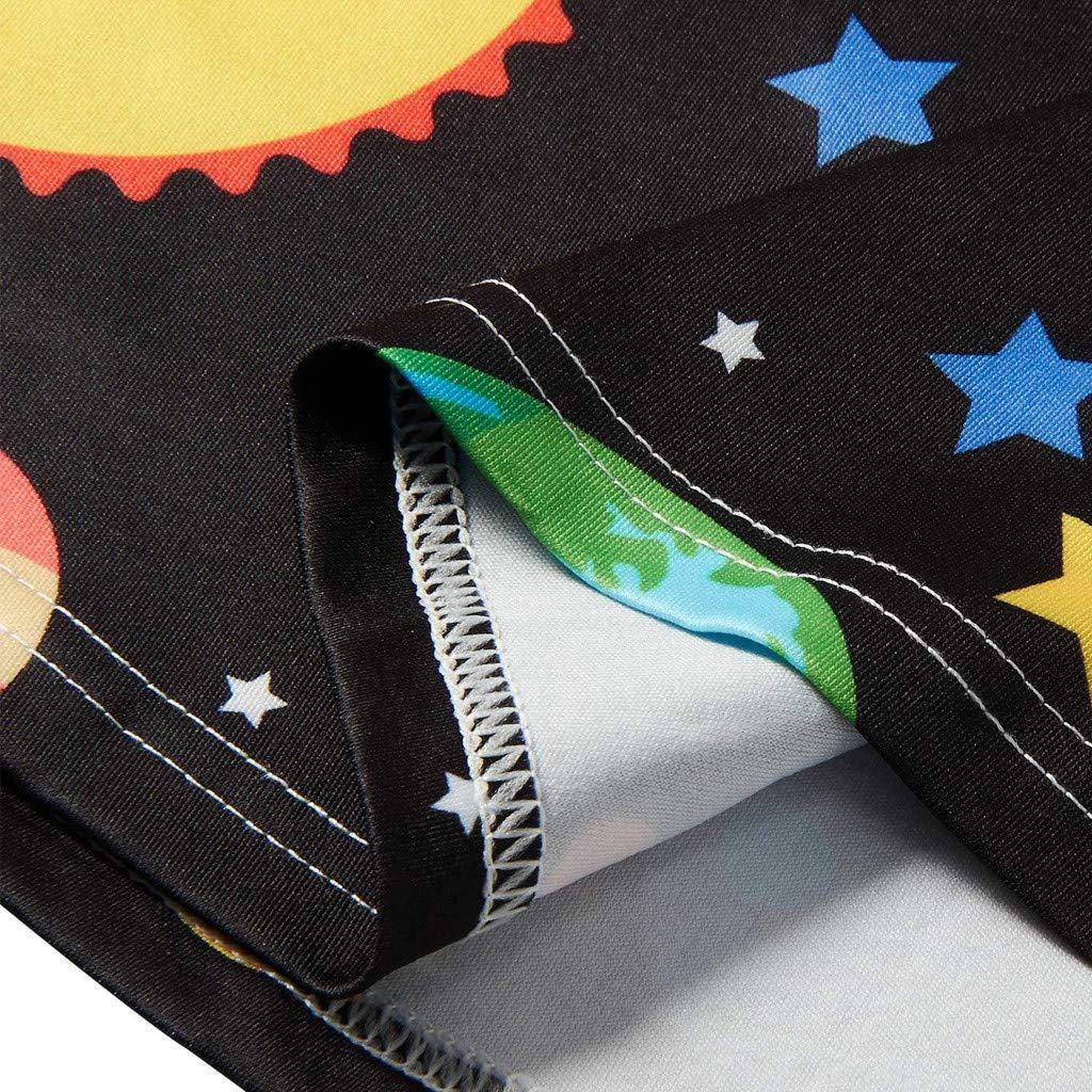 BSGSH Toddler Girls Dress 3D Planet Print Sleeveless Swing Skirt Casual Kids Party Dress