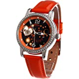 Time100 W80050L.05A Reloj mecánico de horóscopo Leo para mujer de color rojo