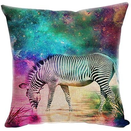 yisumei almohada Home Decor sofá lanzar fundas de almohada), color zebra Wild Life Multicolor
