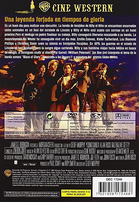 Intrépidos Forajidos [DVD]: Amazon.es: Emilio Estevez, Kiefer ...