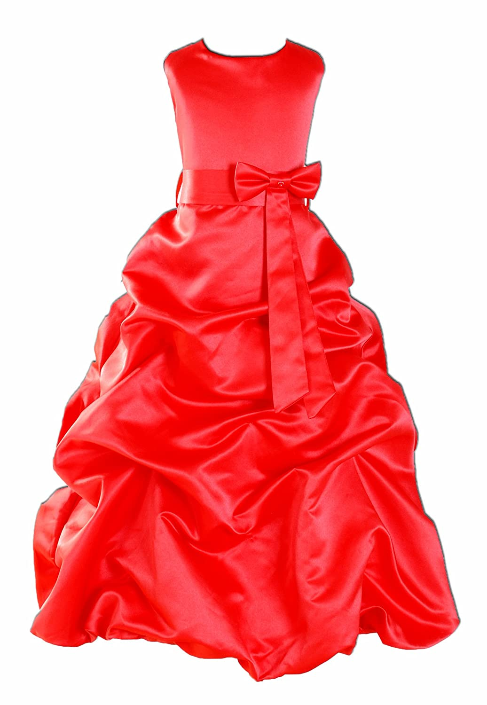 Rouge 8-9 Ans Robe demoiselle d'honneur
