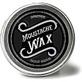 Charlemagne Premium Moustache Wax - Schnurrbart Wachs für Herren - Bart-Wichse - Aus echtem Bienenwachs & Kokosbutter - Natürliche Inhaltsstoffe - Schnurrbart und Bart-Pflege - Premium Grooming