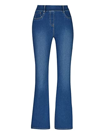 b99f65324cfa77 Womens Erin Pull-On Bootcut Jeggings: Amazon.co.uk: Clothing