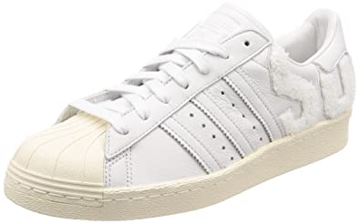 adidas Superstar 80s, Chaussures de Gymnastique Homme, Blanc (Crystal White/Crystal White/Off White), 46 2/3 EU