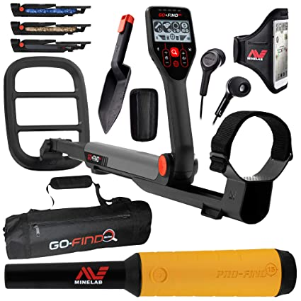 Minelab GO-FIND 66 Metal Detector with PRO-FIND 15 Pinpointer & Black Carry