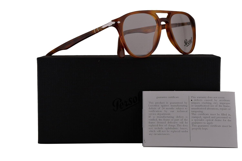 79a3e9b439d Persol Authentic Eyeglasses PO3160V Light Brown Havana w Clear Demo Lens  9041 PO 3160-V (50mm)  Amazon.co.uk  Clothing