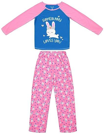 f709bd6bd Amazon.com: Girls Sleepwear Pajama Long Sleeve Shirt & Pants Set (XS ...