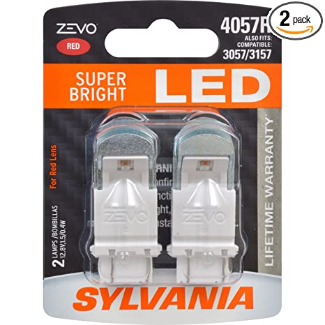 Amazon.com: SYLVANIA - 4057 ZEVO LED Red Bulb - Bright LED Bulb, Ideal for Stop and Tail Lights (Contains 2 Bulbs): Automotive