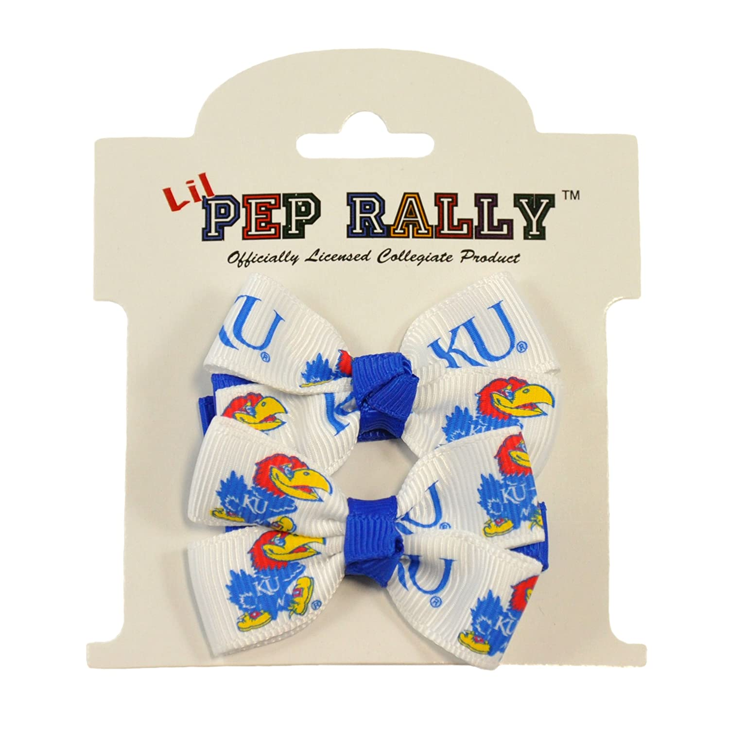 University of Kansas KU Jayhawk Girls Team Cheer Hair-Bows