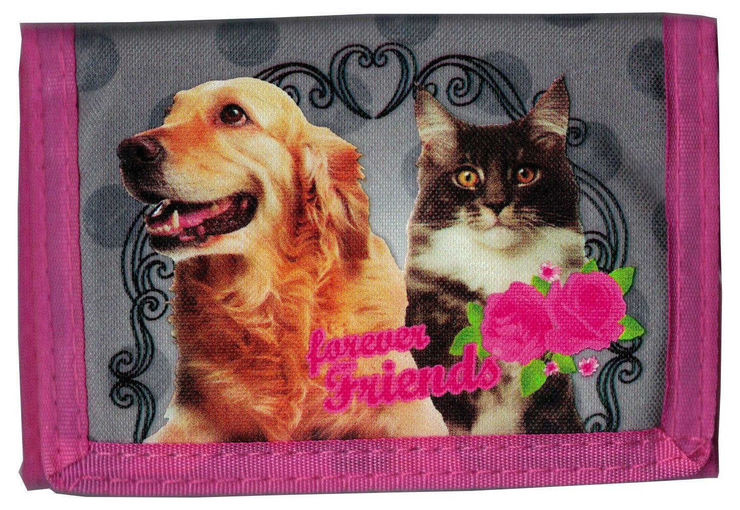 Dog & Cat - Cartera con monedero Wallet para niños - Amigos por siempre - Golden Retrievers - Cleo & Frank Company: Amazon.es: Equipaje