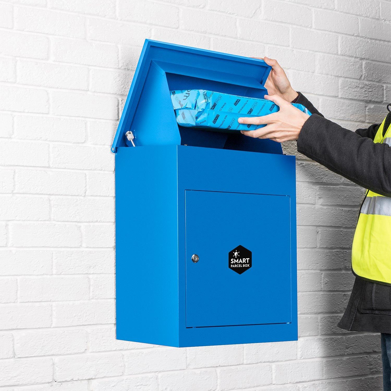 Montado en la pared Smart paquete gota caja azul para Internet ...