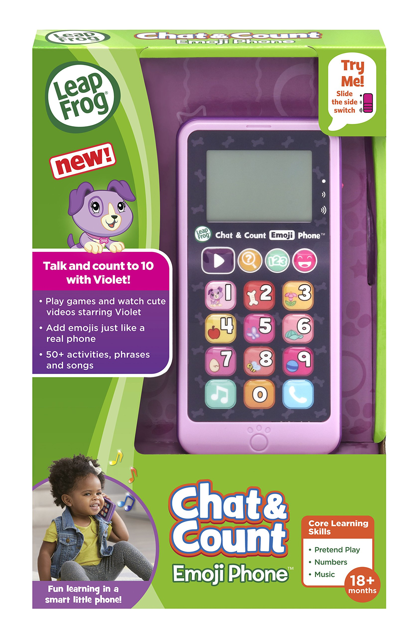 LeapFrog Chat and Count Emoji Phone, Purple by LeapFrog (Image #6)
