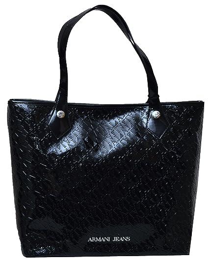 9c06f2be677c Armani Jeans Women`s AJ Logo Handbag S05245 A9 Black  Amazon.co.uk  Shoes    Bags