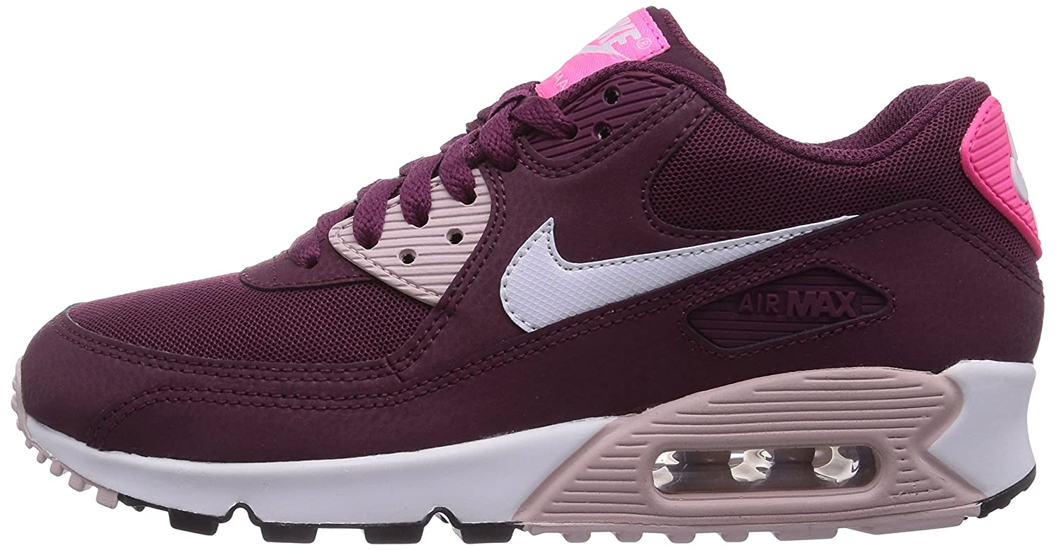 reputable site f98b3 5a233 Nike Air Max 90 Essential, Baskets Basses Femme, Rouge (Villain Red White  Champagne Pink PW 600), 40.5 EU  Amazon.fr  Chaussures et Sacs