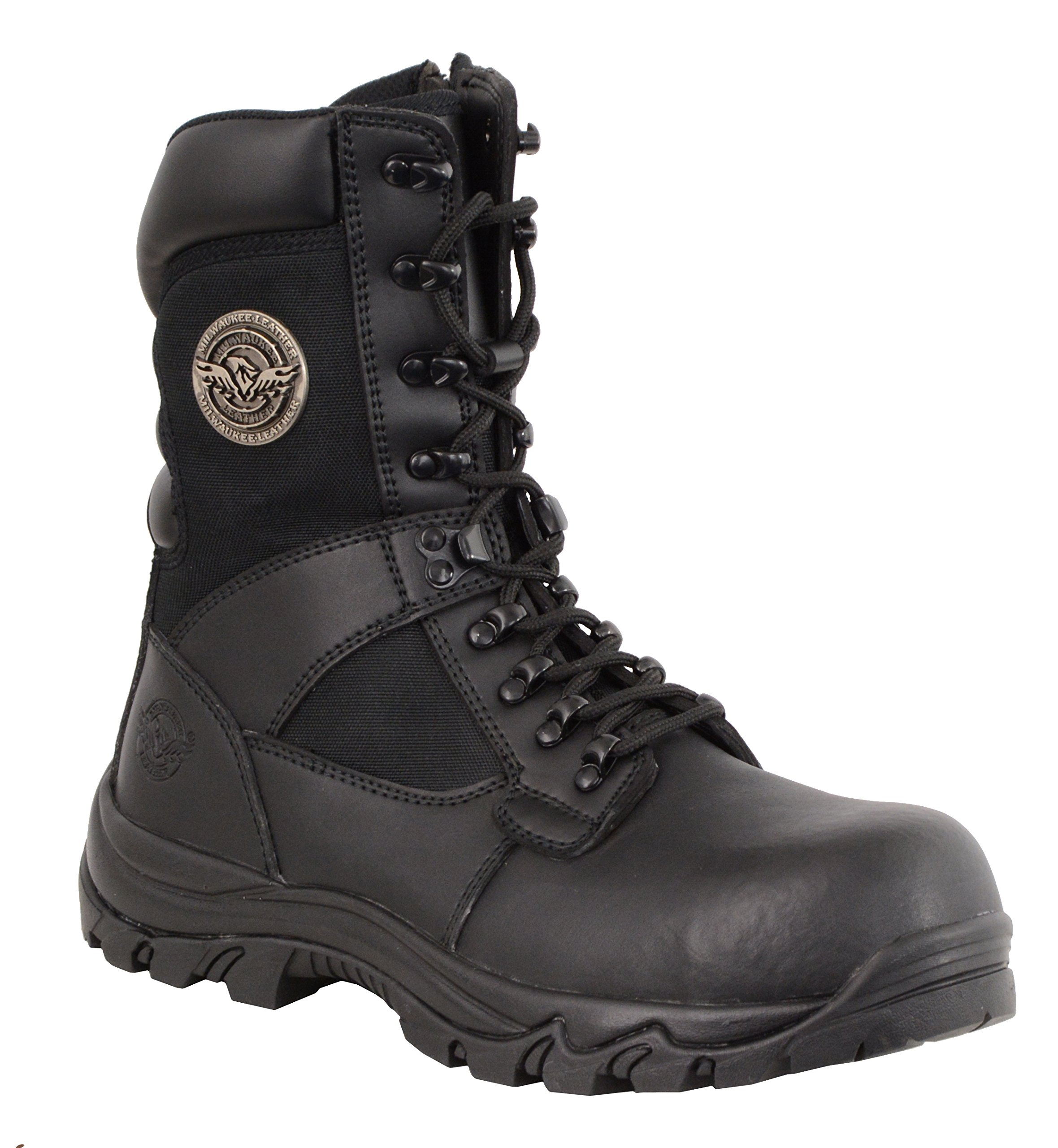 Milwaukee Performance Men's Leather Tactical Boots with Composite Toe (Black, Size 10)